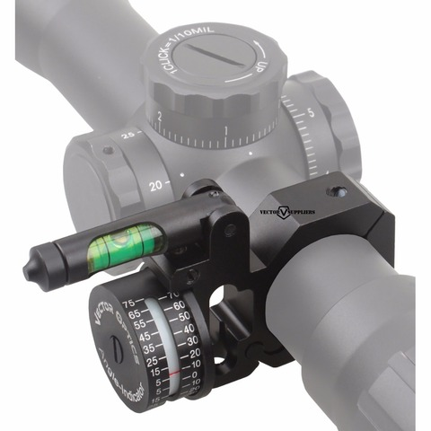 optica do vetor 30mm 1 polegada indicador de angulo nivel bolha adi escopo montagem anel