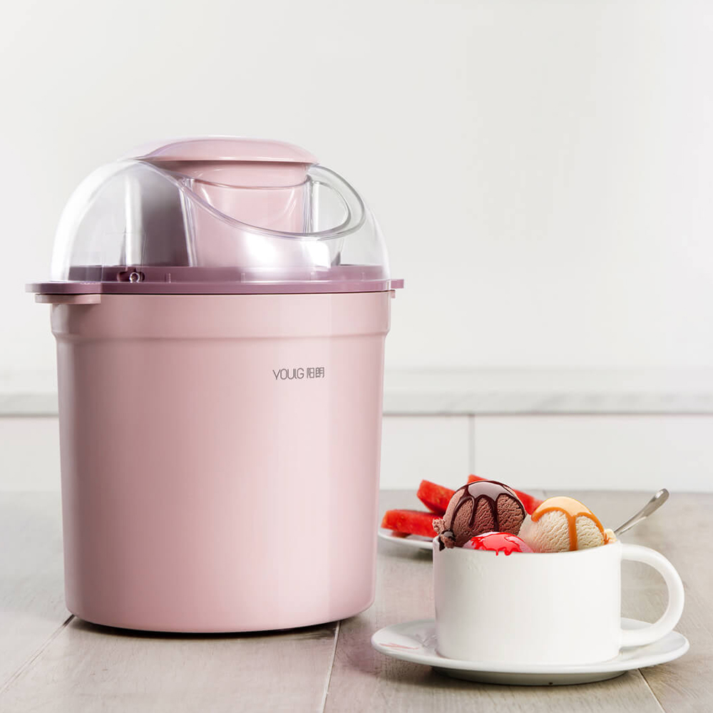 Xiaomi youpin 0.8L/12W Home Ice Cream Maker Machine Triple Refrigeration System Simple One button Operation Low Noise