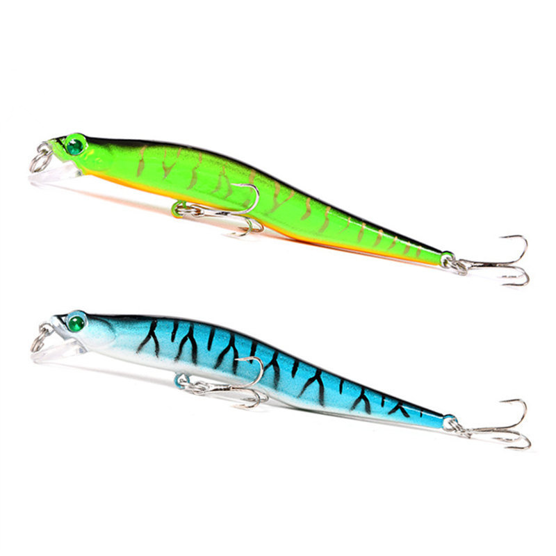 12cm 10g bent minnow fishing lure artificial baits 3d fish for Fishing with jigs