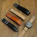 Oferta especial clásico 18 20 22 24 MM otan correa de piel, otan para hombre de moda reloj de cuero correa