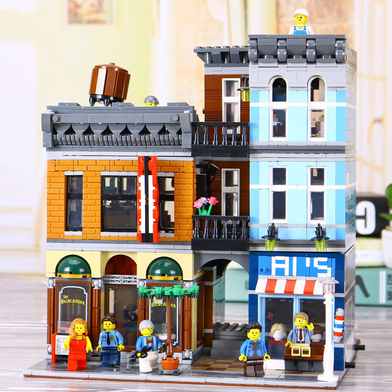 New Lepin 15011 2262pcs Series The Detective's Office Set Avengers Set Assemble Building Blocks Compatible legoed 10197 Toys 2016 new lepin 21005 creator series the emerald night model building blocks set classic compatible legoed steam trains toys