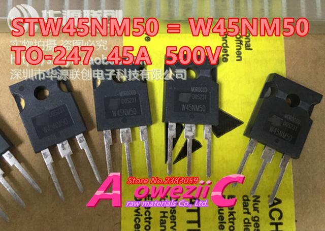 ترانزستور Aoweziic أصلي جديد مستورد 100% طراز STW45NM50 W45NM50 STW77N65M5 77N65M5 TO 247