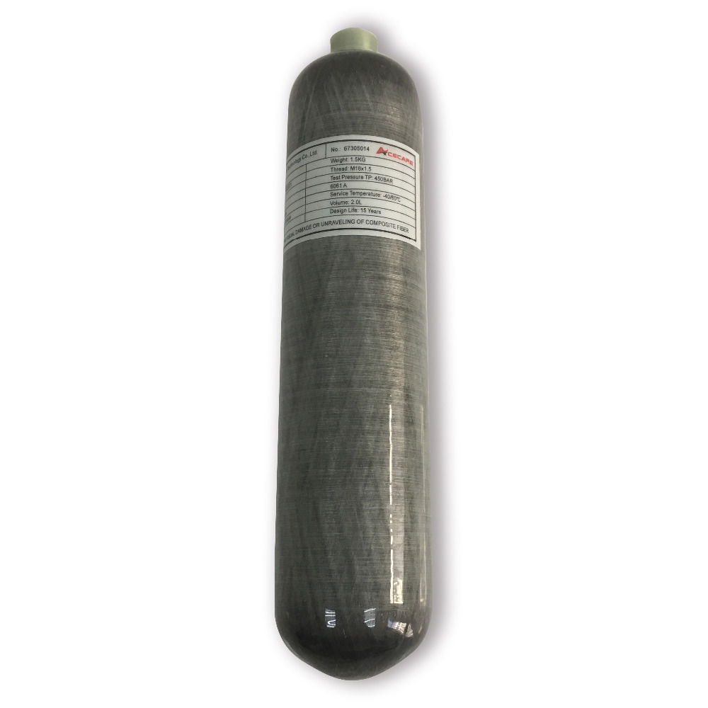 AC102 Acecare PCP Carbon Fiber Cylinder 2L 300Bar Diving /Scuba Tank HPA Compressed Air Tank/Air Rifle/Airforce Condor/Airgun