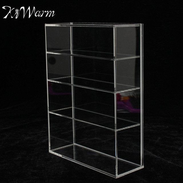 kiwarm high gloss acrylic display box show case sliding door for mini perfume bottle jewelry crafts