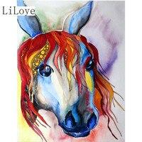 LI LOYE Diamond Embroidery Painted Horse Mosaic 5D DIY Decorative Diamond Painting Cross Stitch Picture Rhinestone