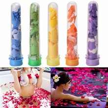 цена на Portable Cute Scented Soap Bath Washing Flakes Tube Soap Petals For Travel Soaps