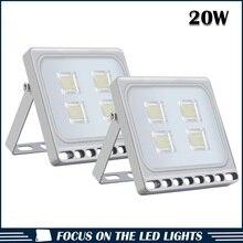 2pcs Ultraslim 20W LED Floodlight Outdoor Security Lights 110V 220V Cool white Waterproof IP65