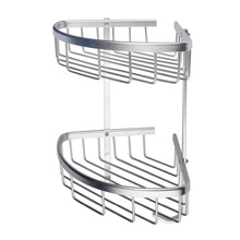Hot Two Layer Wall Mounted Home Rack Towel Washing Shower Basket Bar Shelf Or Other Accessories Holder Home Acessories Racks