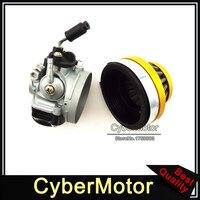 Aftermarket Carb Dellorto Style SHA 14mm Carburetor Air Filter Gold For Tomos A36 Golden Bullet Targa LX TT Sprint Colibri