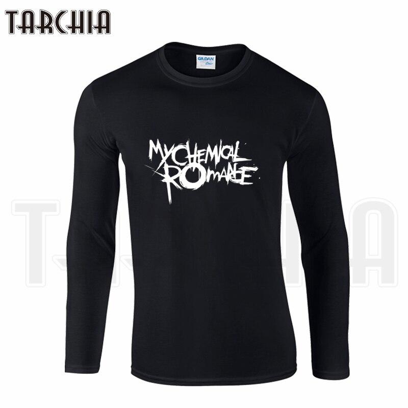TARCHIA Brand Eur Size Free Shipping Long Sleeve Tee Punk Band My Chemical Romance Print Men's T-Shirt 100% Cotton Plus Homme