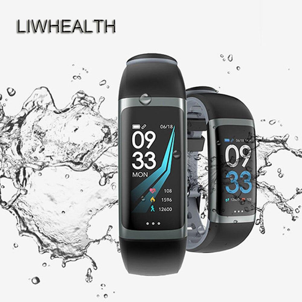 41e0b815c1c Vida cor Bluetooth Relógio Inteligente APP GPS HR BP de Fitness Saúde  Smartwatch Apto Para