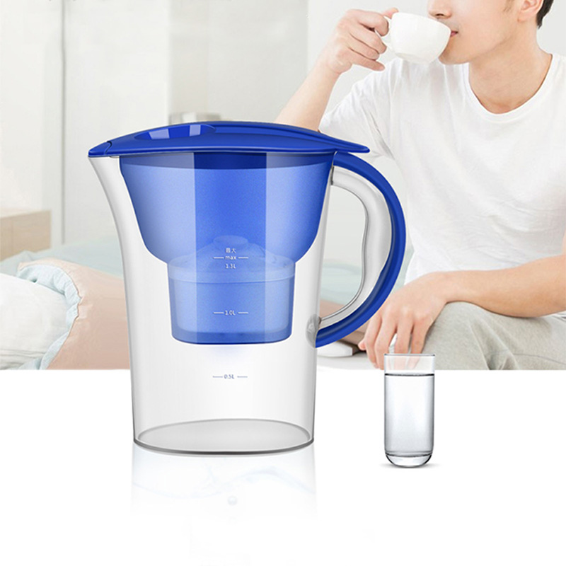 MEXI Household Activated Carbon Water Purifier Filtration Pitcher Filter Jug Cartridge Bottle Kitchen + White Filter Element