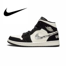 sneakers for cheap 24e62 20993 Official Original Nike Air Jordan 1 New Arrival Men s Basketball Shoes  Leather Sports Outdoor Sneaker Lace-Up Advanced 852542