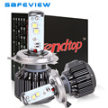 H4 LED Faro de La Motocicleta Bombilla 4800LM 40 W Hi/Lo Kit de Conversión 6000 K Coche Faro Con CREE LED Chip