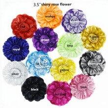 30 шт./партия, красивые блестки золотистая ткань, цветок-9 см, цветок розы, высокое качество