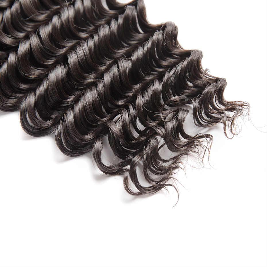 MS Lula Brasilianische Tiefe Welle Bundles Weave 3 teile/los 100% Menschliches Haar Remy Schuss Natürliche Farbe Haar Verlängerung 30 40 zoll Bundles
