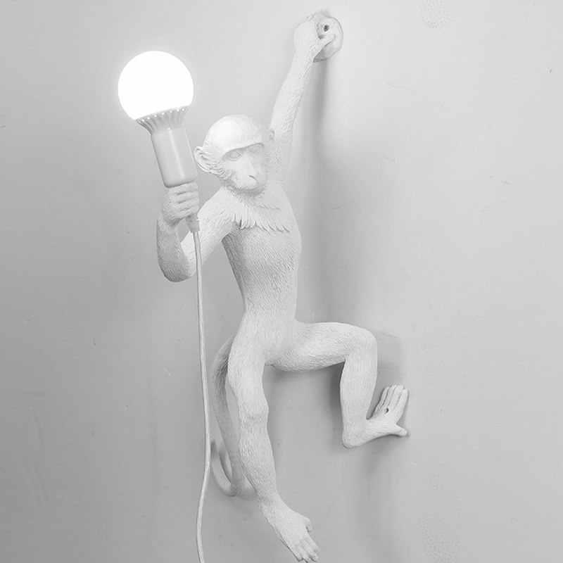 Современный Креативный арт обезьяна торшер Лофт стиль ручной работы фигурки обезьян из мастики абажур для выставки декорация зала