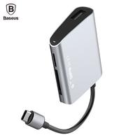 Baseus USB-C Type C HUB with USB C Typc-c to SD TF Card & USB 2.0 Adapter HUB For Macbook Pro