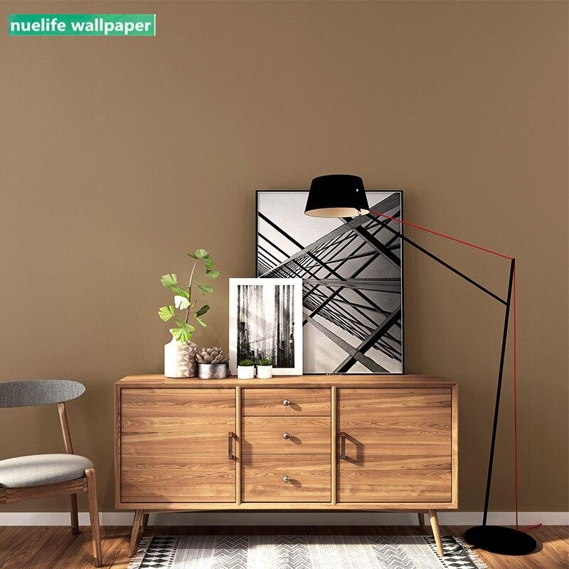 Коричневый темно бордовый темно коричневый современный минималистичный стиль нетканые обои Гостиная Спальня магазин ТВ фон обои