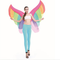 Inflatable Wing Butterfly Bat Costume Adult Fairy Makeup Halloween Stage