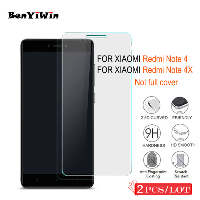 For Xiaomi Redmi Note 4 4x Tempered Glass Not Full Cover