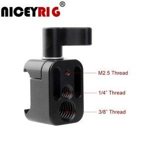 """Image 1 - NICEYRIG מצלמה מהדק שחרור מהיר נאט""""ו מהדק הר עם 3/8 """"1/4"""" 20 ו M2.5 בורג חור מצלמה צג מחזיק במהירות 1/4"""""""