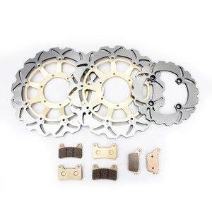 Image 2 - BIKINGBOY Front Rear Full Set Brake Disks Discs Rotors Brake Pads Wave Set for Honda CBR 1000 RR CBR1000RR 2006 2007 06 07