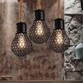 Americano annata lampade a sospensione bar decorazione della casa sala da pranzo apparecchi di illuminazione lampara industriale retrò luce moderna lampada a sospensione