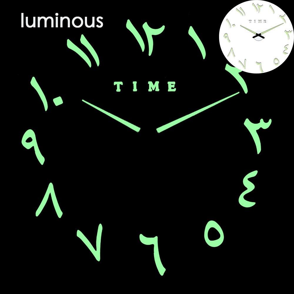 27 различных дизайнов светящиеся настенные часы современный дизайн настенные цифровые большие Big3D DIY модные Saat Reloj Horloge klok - Цвет: wall clock 17