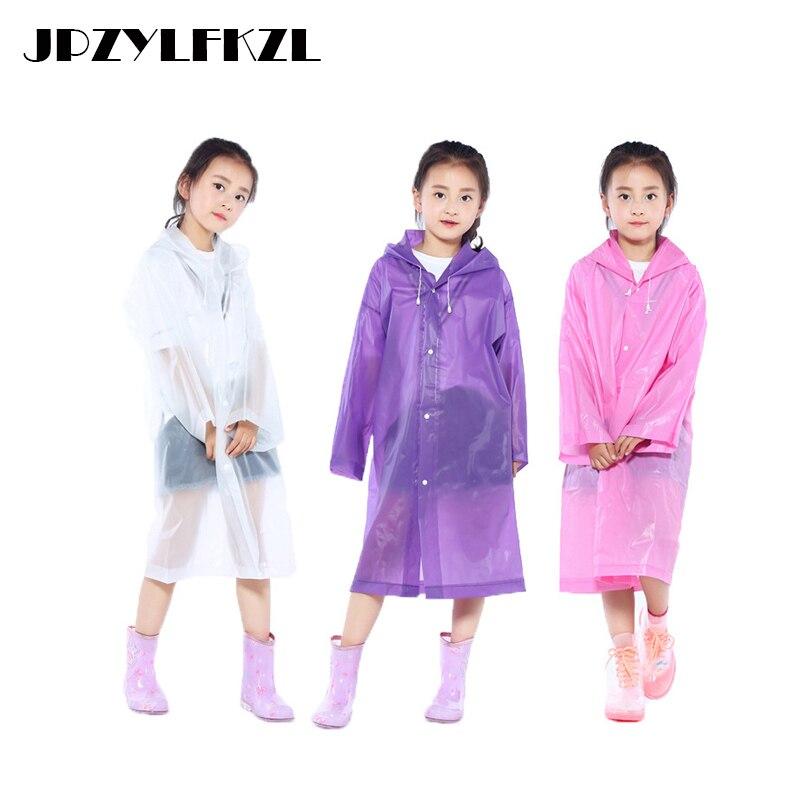 Rain Coat Waterproof Poncho Student Raincoat Baby Children Cartoon Kids Girls Boys Rainproof Rainwear Rainsuit Protection Z772 Rain Gear