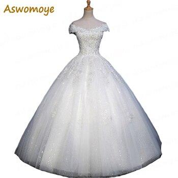 2018 New A-Line Wedding Dress Appliques V-Neck Sexy Off the Shoulder Wedding Dresses Beading Custom Made vestidos de noiva Wedding Dresses