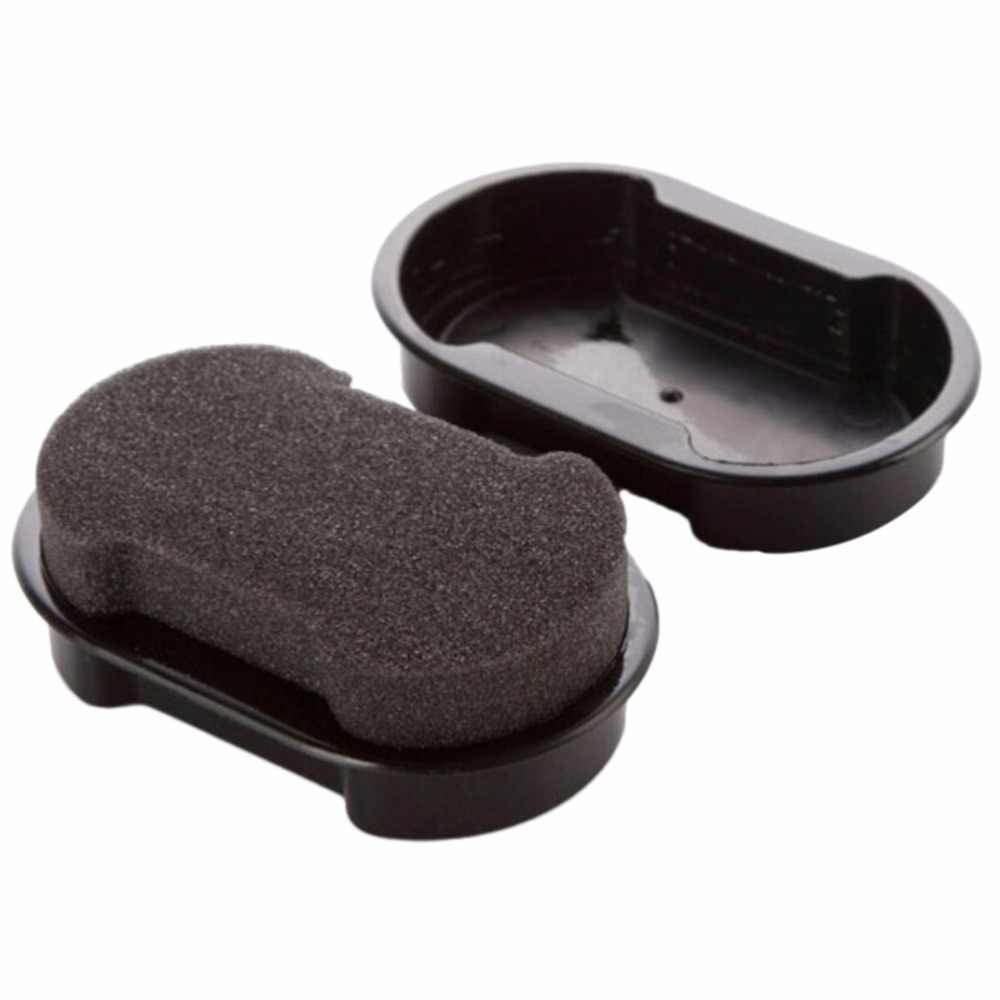 2018 Nova 1 pc Rápida Lustrar Sapatos Escova de Limpeza líquido De Limpeza de cera De Polimento De Couro brilhante saco de Esponja polidor de Sapato Bota sofá