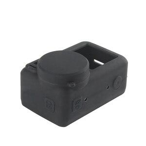 Image 3 - 2 で 1 osmoアクションカメラシリコンケース + レンズキャップ保護カバー防塵アンチスクラッチ用dji osmo acitonカメラ