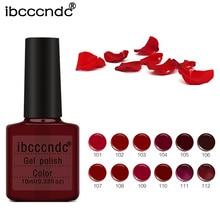 Ibcccndc 12Pcs/Set 10ml UV Nail Gel Polish Top Coat and Base Resin Vampire Blood Red Wine Party Makeup