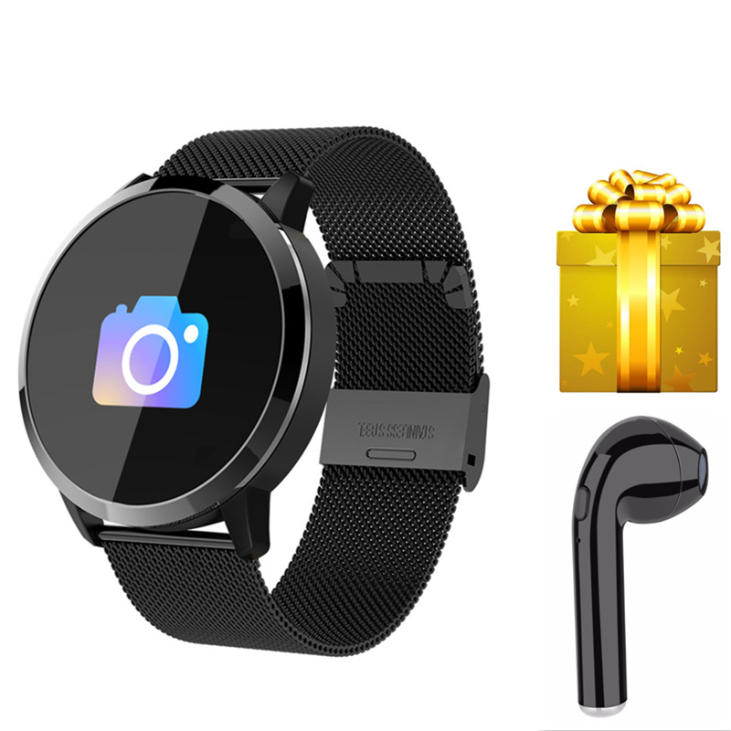 Smart bracelet earphone Smart band Blood Pressure Color Screen Sports wristband Heart Rate Monitor for iphone