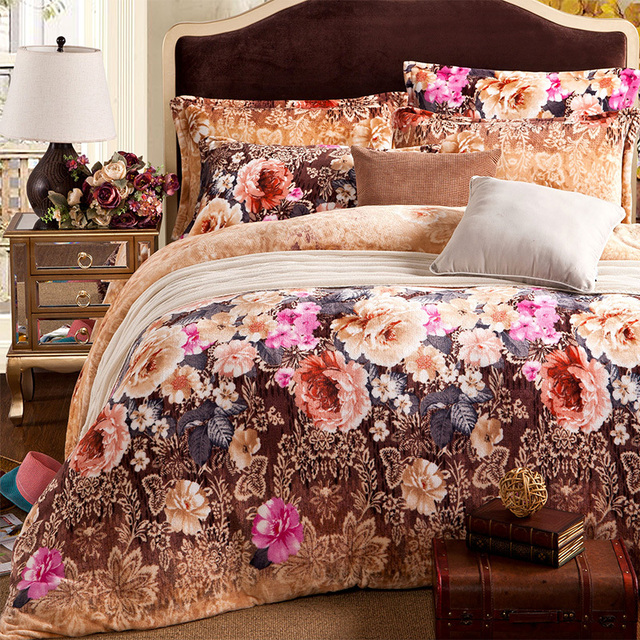 Luxury Comforters And Quilts Floral Bed Sheets Girls Comforter Sets Elegant  Bed Linen Full Size Comforter