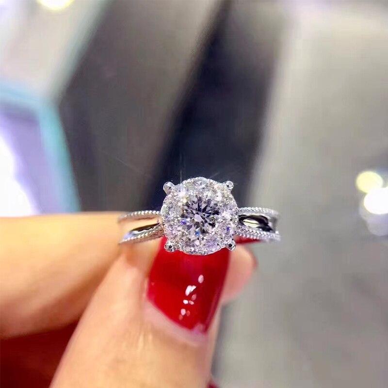 ANI 18 К из белого золота (AU750) Для женщин обручальное кольцо Certified G/VS1 0,28 карат кольцо с бриллиантом роскошные дизайнерские женские ювелирные и