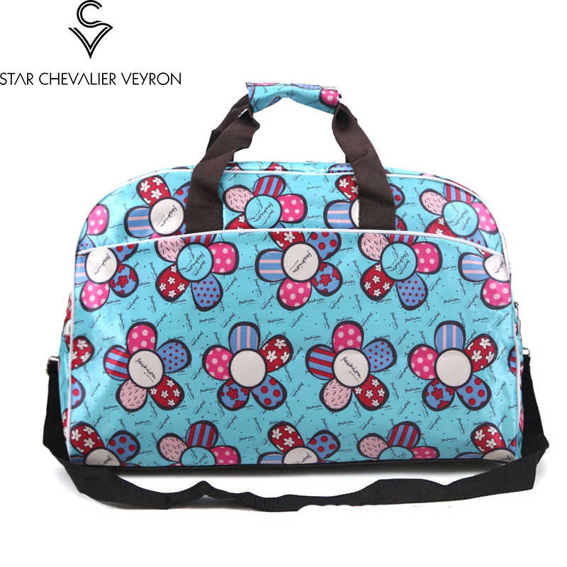 SCV 2019 Sunflower women travel bags handbag cartoon large capacity Storage lady shoulder bags