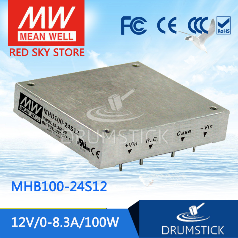 Hot sale MEAN WELL MHB100-24S12 12V 8.3A meanwell MHB100 12V 100W DC-DC Half-Brick Regulated Single Output Converter