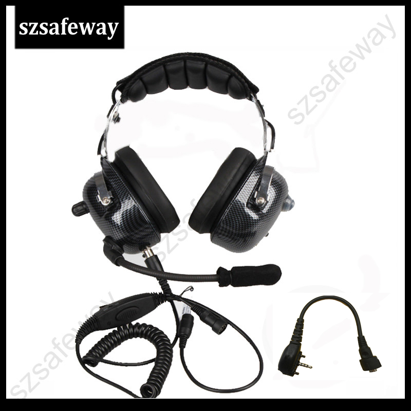 High quality heavy duty two way radio noise cancelling headset with boom mic heaphone for Vertex VX231