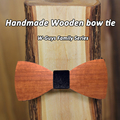 Envío Gratis 16 Colores de madera de la Tela Moda Bowties Hombres pajaritas gravata Hombre Matrimonio Boda de La Mariposa Colorida De Madera Roja