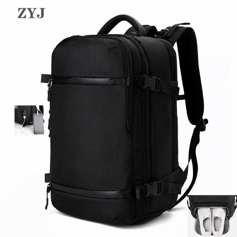 ZYJ hommes d'affaires voyage randonnée sac à dos pour ordinateur portable avec poche à chaussures femmes USB Interface de charge école sac à dos sac à dos sac à dos