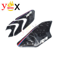 Motorcycle Side Gas Oil Tank Stickers Traction Pad Knee Grip Decal Carbon Fiber For BMW HP4/S1000RR/S1000R