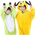 Children Kid Flannel Animal Pajamas Anime Cartoon Costumes Sleepwear Onesie Cosplay Pluto Goofy Dog Onesie Frog jumpsuit Onesie