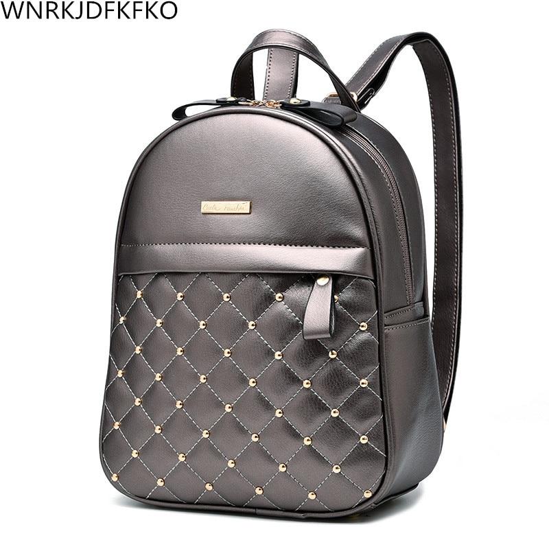Female Backpack 2017  Fashion Leisure High Quality Deads Bag Shoulder Bag Female Pu Backpack Backpack