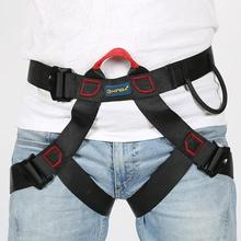 2019 Outdoor Sports Safety Belt Rock Climbing Harness Waist Support Half Body Harness Aerial Survival Equipment outdoor climbing safety belts safety equipment harness climbing belt waist safety fashion solid belt 500kg high quality gm1413
