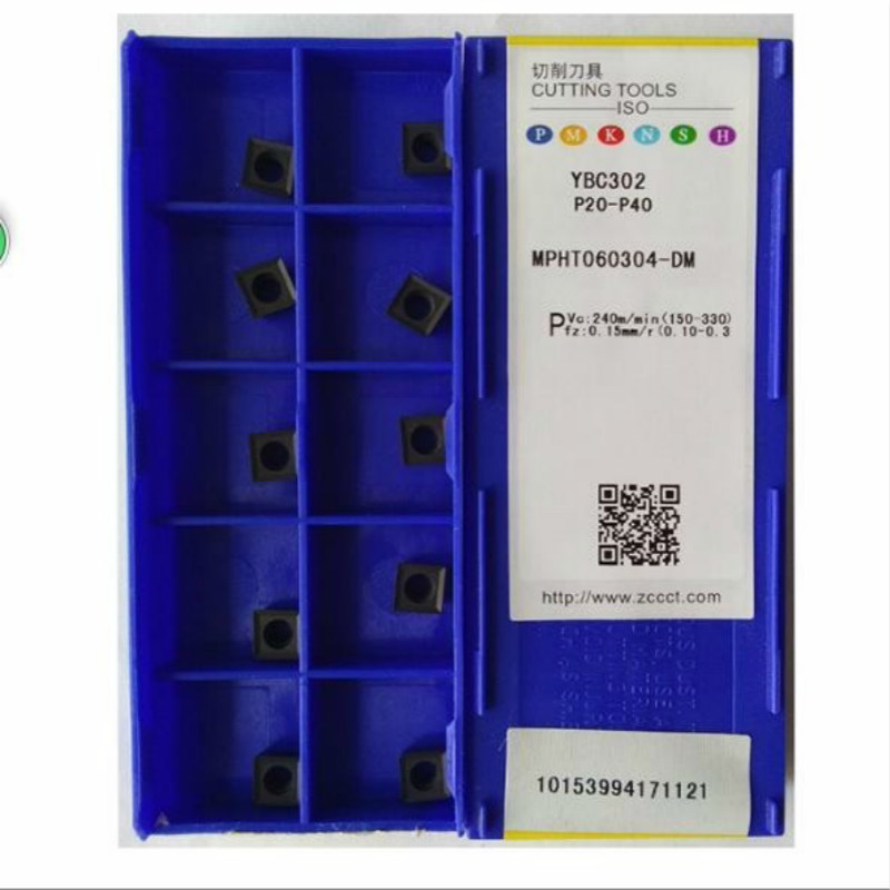 MPHT060304 DM YBG302 original ZCC carbide insert Lathe Cutting Tools CNC blade alloy carbide CVD Milling