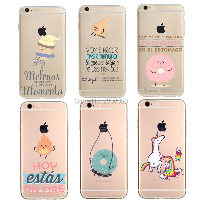 edcf3d7516b Mr Wonderful NO HAY NADA IMPOSSIBLE Case For Apple iPhone 4 4s SE 5 5S 5C 6 6S  7 Plus Hard PC Transparent Phone Back Cover Coque