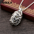 925 Sterling Silver Vintage Double-sided Buddha Pendant Necklace Jewelry For Men Wonmen Punk Thai Silver Faith