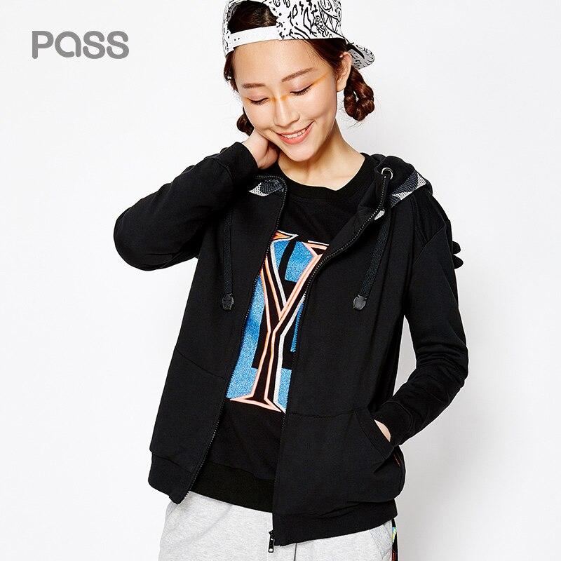 PASS New font b Women b font Fashion font b Jacket b font Wide Waisted Hooded